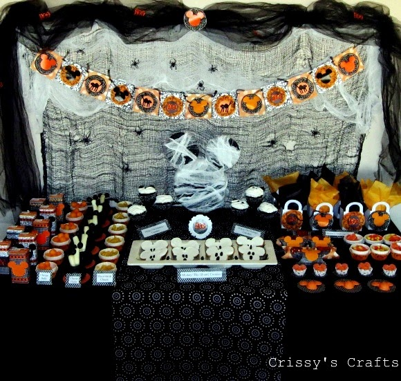 Mickey 39 s not so scary halloween party party ideas for Another word for food decoration