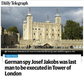 Daily Telegraph - 2016 08 14 - Article on Josef Jakobs