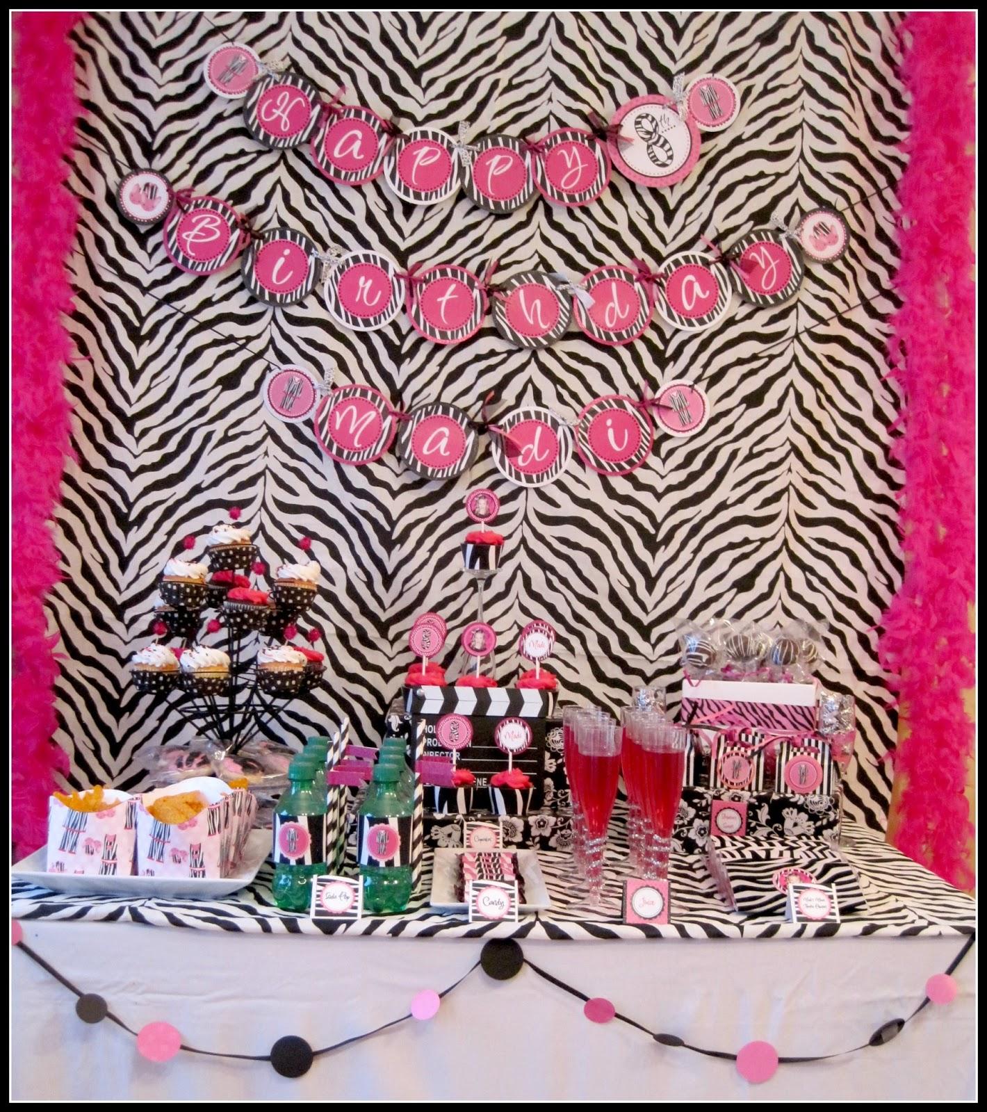 Pajama Glam Birthday Party Dimple Prints