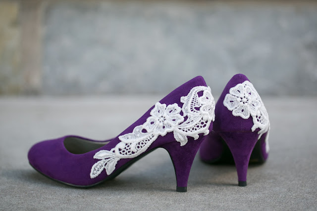 Purple Wedding Flats