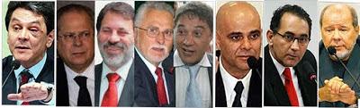 Políticos envolvidos no caso do Mensalão