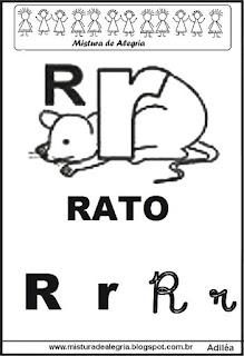 Alfabeto ilustrado letra R