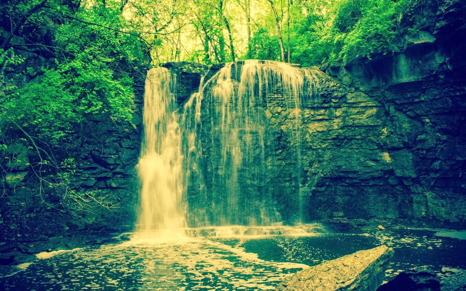 1200x1600 Wallpaper Hd: Unseen Waterfall In Forest Wallpaper