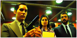 O Segredo dos Seus Olhos: Gómez (Javier Godino), Irene  (Soledad Villamil) e Esposito (Ricardo Darín)