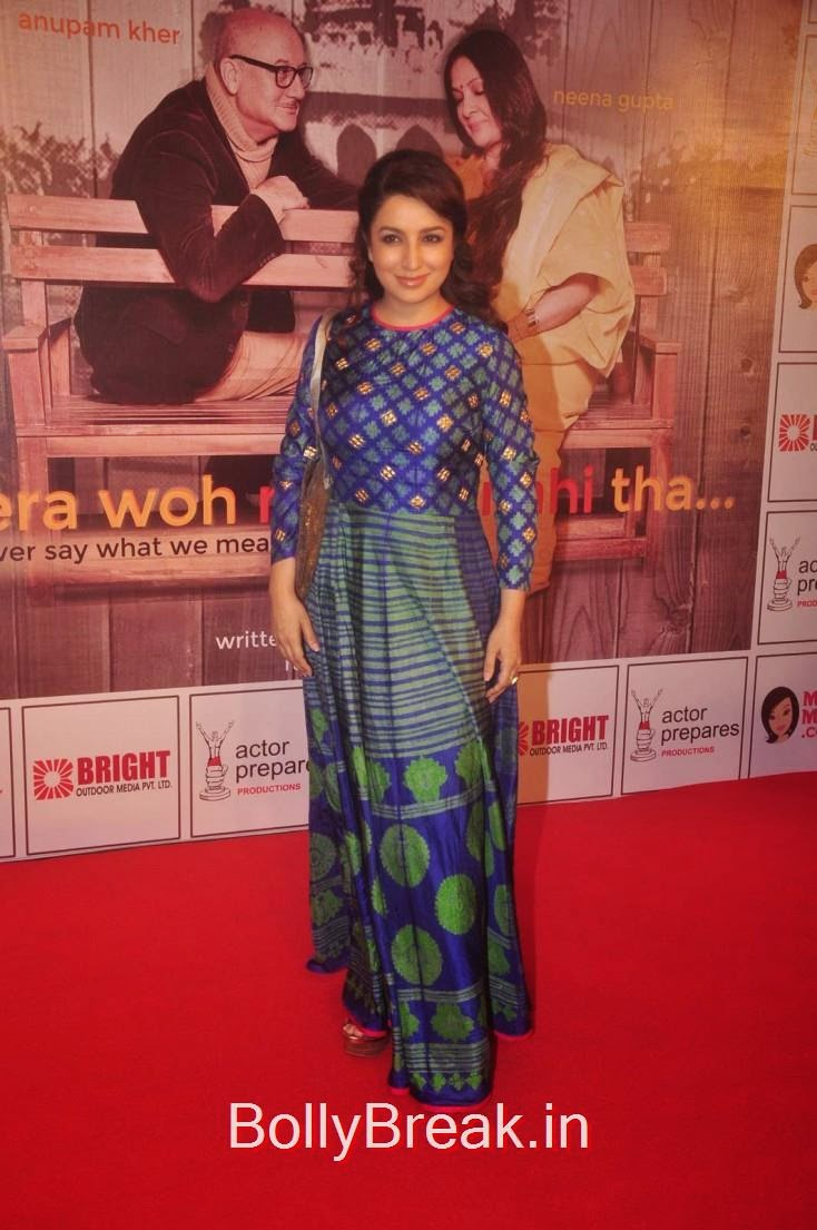 Tisca Chopra, Elli Avram, Esha Gupta Hot Pics At Opening for Anupam Kher Neena Gupta Play