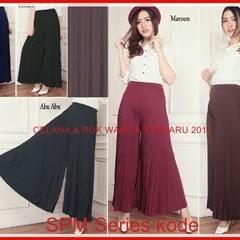 26SPM Setelan Celana Wanita Rok Plisket Ala Korea Bj6126