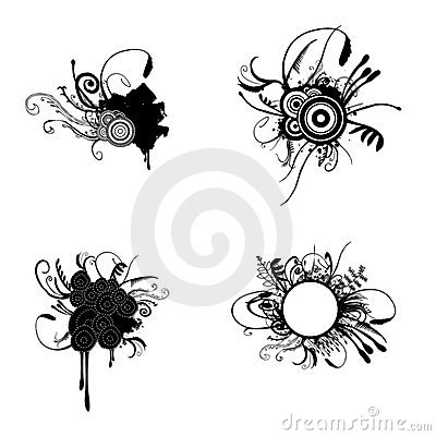 https://www.dreamstime.com/stock-images-floral-grunge-set-image10260154#res487314