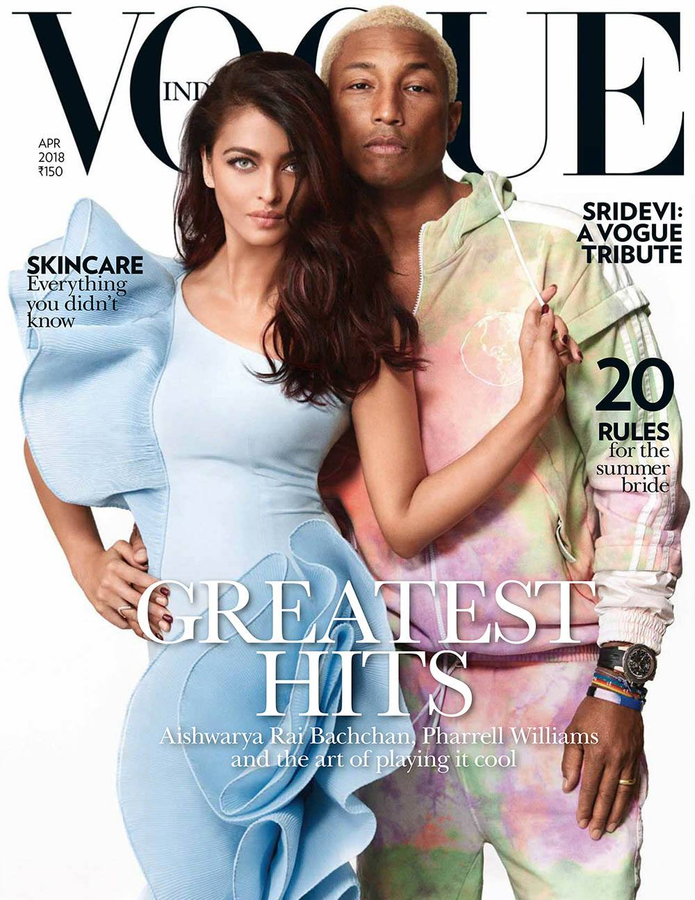 Vogue India April 2018 ft. Aishwarya Rai Bachchan & Pharrell Williams