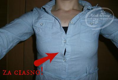 Making of: Poszerzanie koszuli lub bluzki w biuście