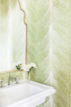 Pantone Colour of the Year 2017 Greenery 15-0343 Bathroom Interior Decor