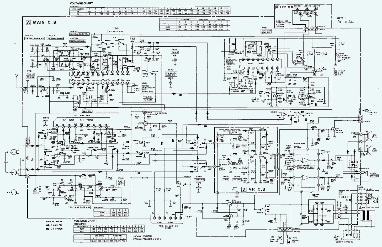 medium resolution of aiwa csd ex110 schematic circuit diagram compact disc stereo radio
