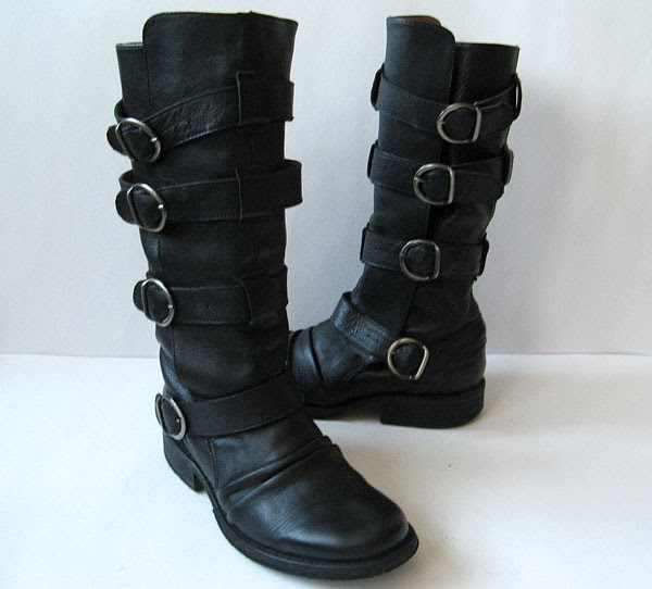 Chloe Black Boots Aldo Black Leather Motorcycle Boots