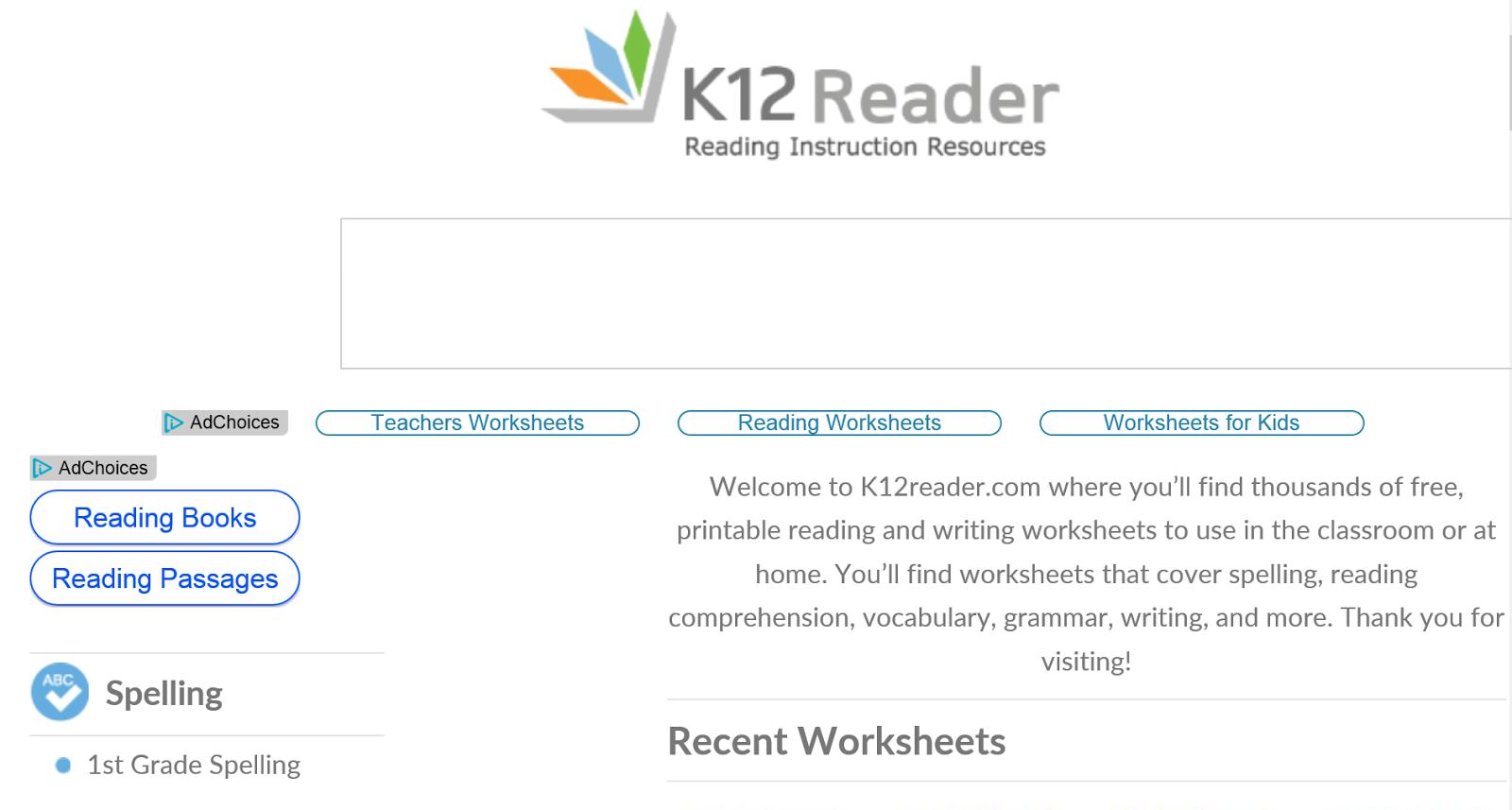 Workbooks k12 comprehension worksheets : English Teacher Trainer