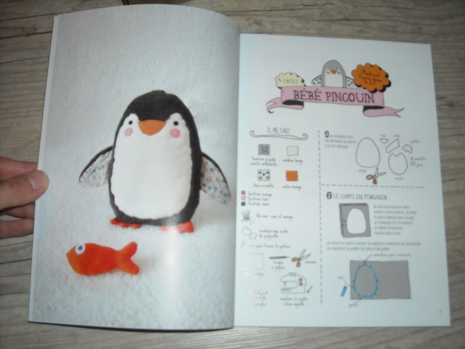 patron peluche pingouin