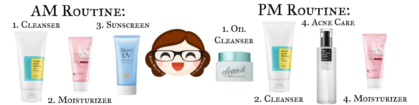 Korean skincare routine for oily acne skin