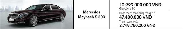 Giá xe Mercedes Maybach S560 4MATIC 2018 tại Mercedes Trường Chinh