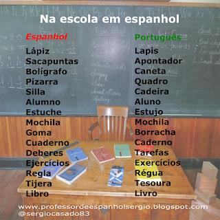 Na escola em espanhol