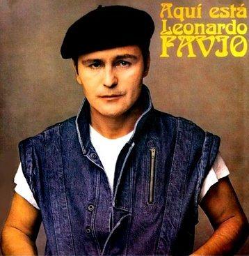 Foto de Leonardo Flavio en portada de disco