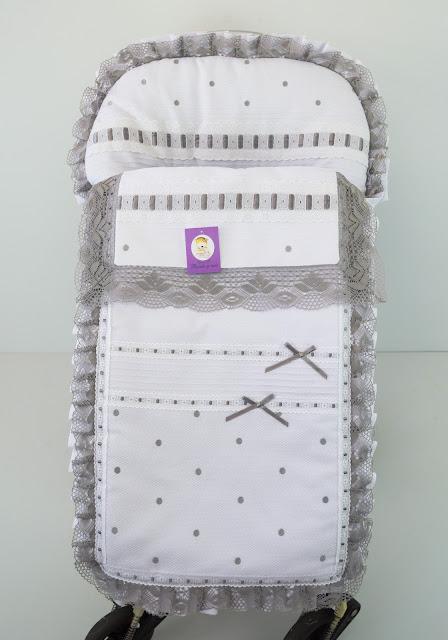 funda silla bebecar stylo class lencero blanco gris