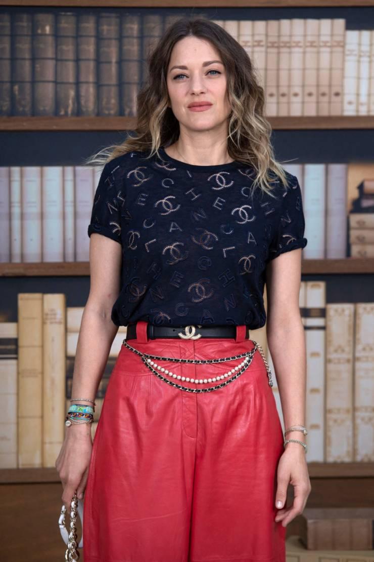 French Model Marion Cotillard At Paris Fashion Week