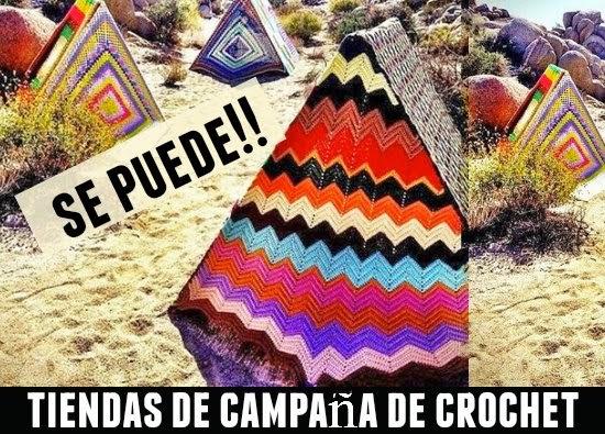 Tiendas de Camping a Crochet Inspiracion