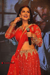 Bollywood Actress Model Sunny Leone Dance Performance in Red Half Saree at Rogue Audio Launch 13 March 2017  0083.jpg