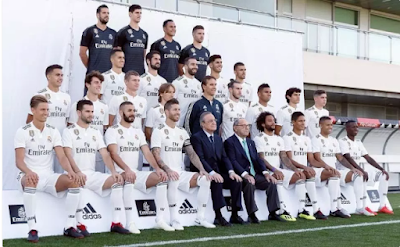 LA LIGA GIANTS, REAL MADRID, SIT FOR FIRST OFFICIAL SQUAD PHOTO WITHOUT SUPERSTAR, CRISTIANO RONALDO, IN TEN YEARS