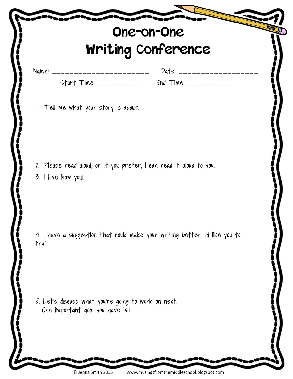 Musings from the Middle School: Conducting a Writing