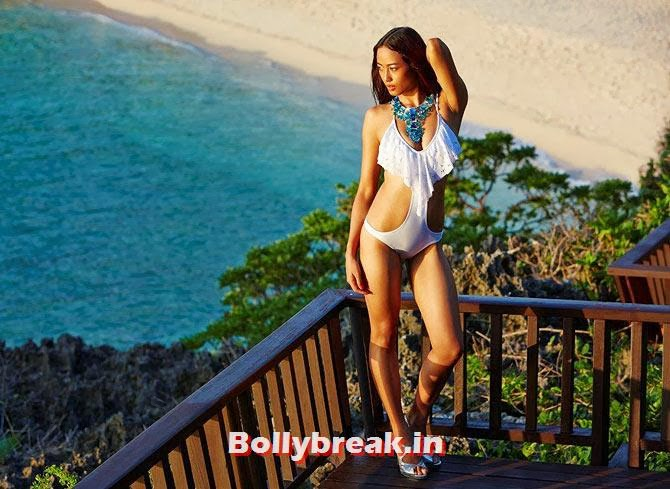 Katheleno Kenze in white Bikini, Katheleno Kenze Hot Pics - Nagaland Model for Kingfsher Calendar in Bikini