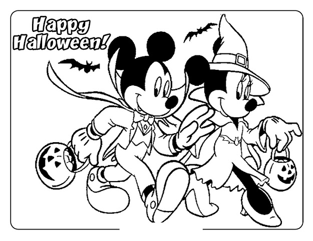 Printable Halloween Coloring Pages Minnie Mouse