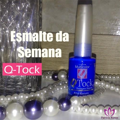 Unhas | Esmalte Azul Escuro Q Tock