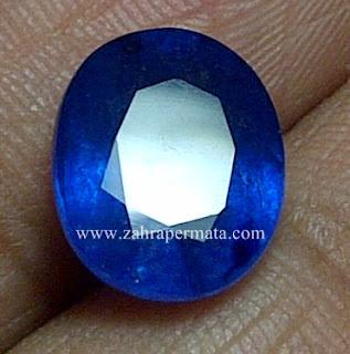 Batu Permata Royal Blue Safir + Memo - ZP 625