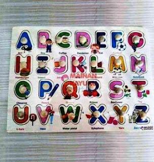 Knop Huruf Puzzle TK PAUD