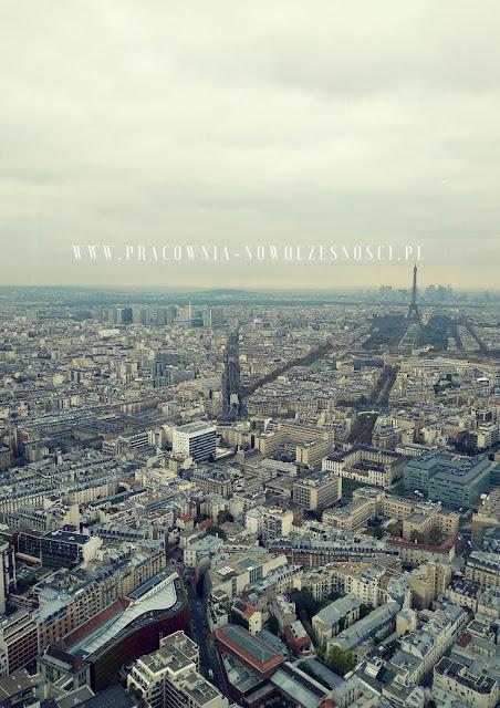 paryż widok na miasto