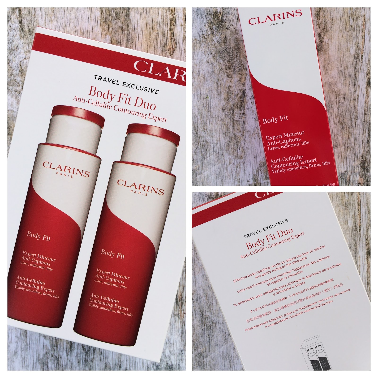Clarins body fit travel pack