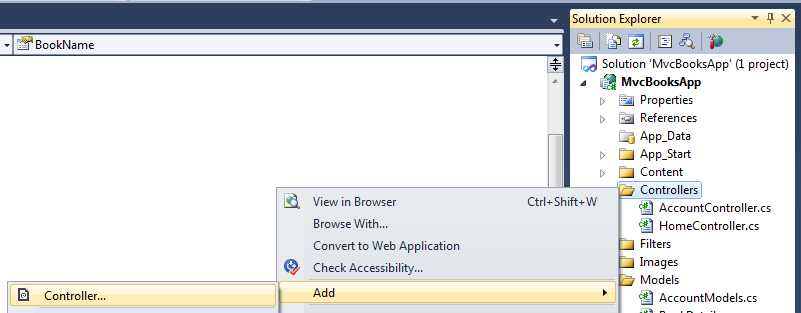 Asp Net MVC 4 application to Create,Read,Update,Delete and