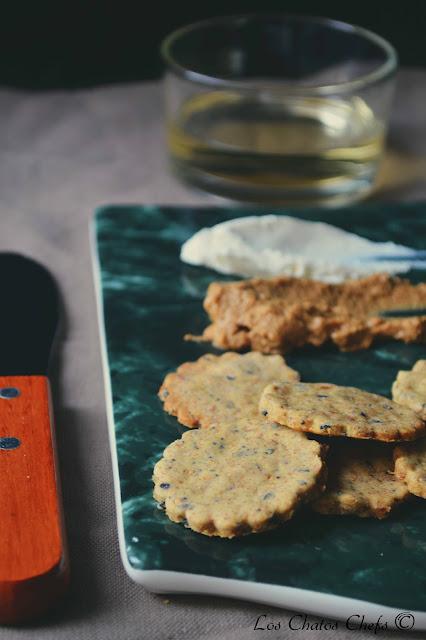 Crackers veganos con semillas