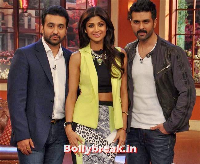 Raj Kundra, Shilpa Shetty and Harman Baweja, Shilpa Shetty Promotes Dishkiyaaoon Promotion on Comedy Night with Kapil