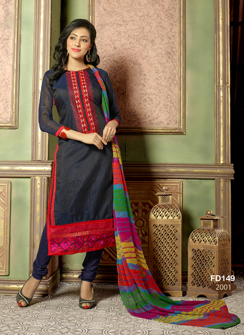 Pretty Lady 9 – Attractive Looking Chanderi Dress Material
