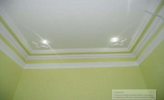 desain plafon ruang tamu mungil tapi cantik