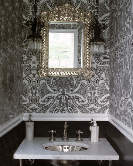 Black And White Bathroom Wallpaper 2017