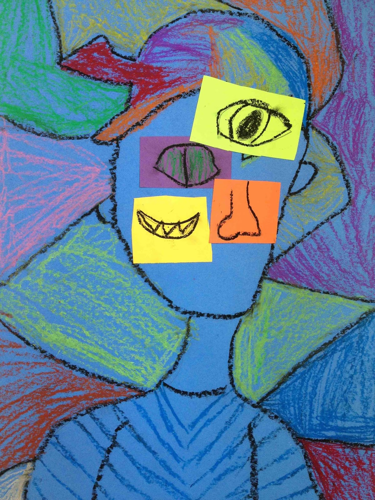 Art At Hosmer Abstract Cubist Self Portraits Inspired By