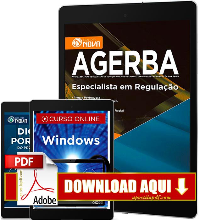 Apostila AGERBA 2016 PDF Download Especialista em Regulação