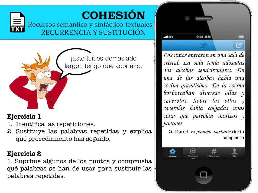 La Lengua Con Tic Entra L Ti C Yl Blog De Lcl De Quique Castillo Ejercicios Para Trabajar La Cohesión En Secundaria De Forma Práctica