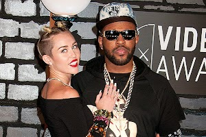 Miley Cyrus meets her producer?