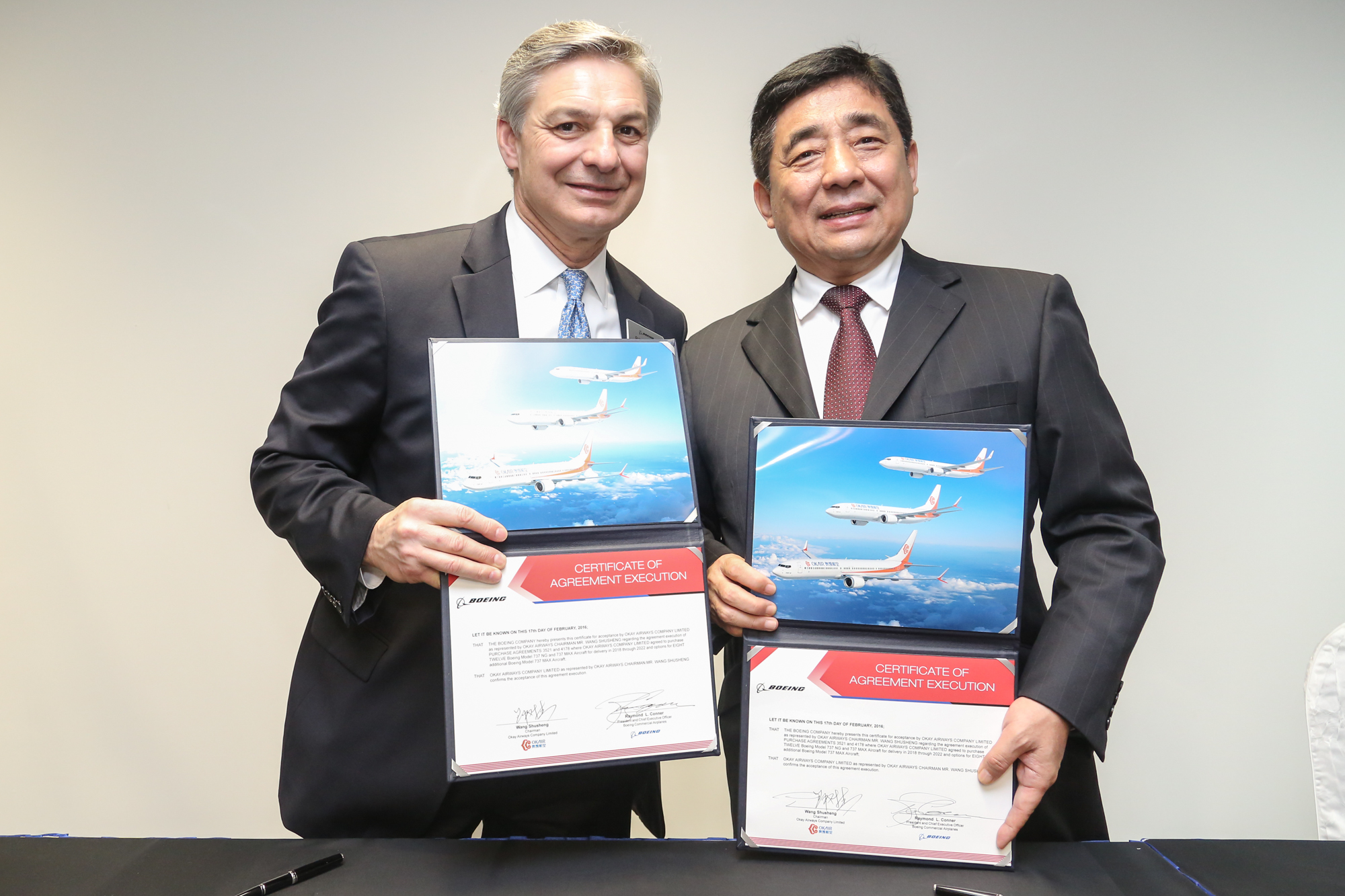 SINGAPORE AIR SHOW 2016 – Okay Airways anuncia compromisso para doze 737
