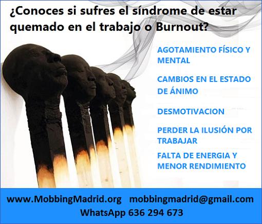 #MobbingMadrid Conoces si sufres el síndrome de estar quemado en el trabajo o #Burnout
