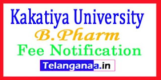 KU B.Pharm 3-1 Sem Exam Fee Notification 2017