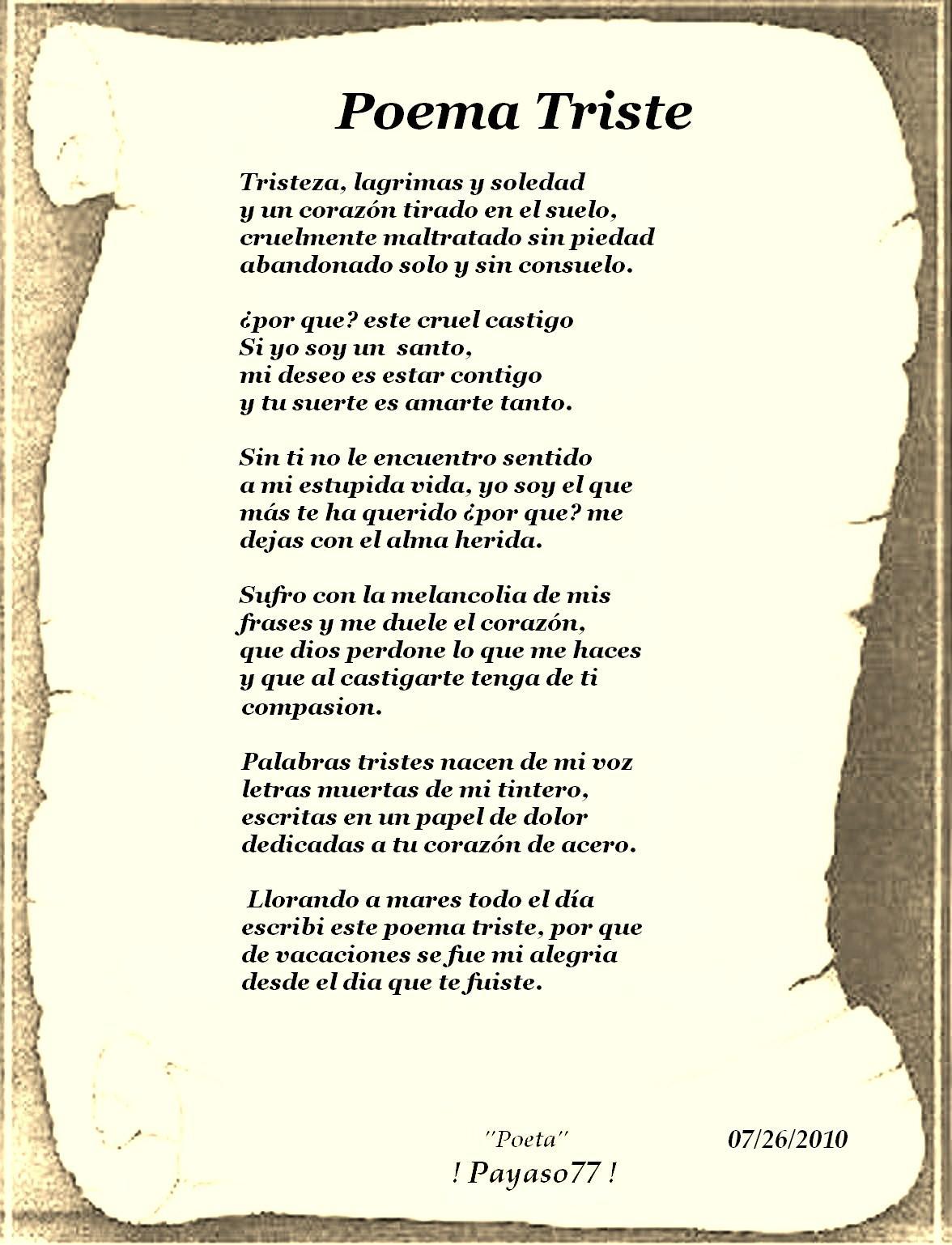 De Poemas Triste Corazon