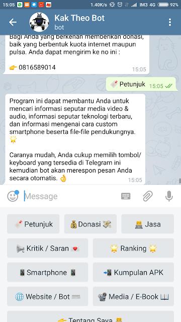 prek Semua (All) HP Android dengan @tpcbot Telegram